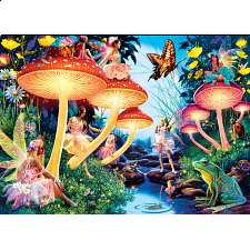 Glow in the Dark Hidden Images - Toadstool Brook - 500-999 Pieces