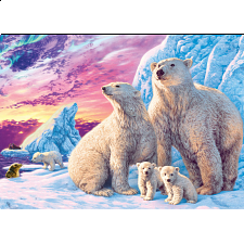 Glow in the Dark Hidden Images - Arctic Friends - 500-999 Pieces
