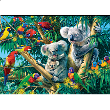 Glow in the Dark Hidden Images - Koala Camp - 500-999 Pieces