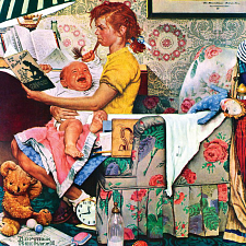 Norman Rockwell - The Babysitter - Search Results