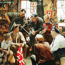 Norman Rockwell - Homecoming Marine - Search Results