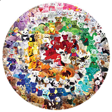 Ty Beanie Babies - Find the Peace - Round