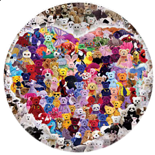 Ty Beanie Babies - Find the Princess - Round