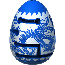 Smart Egg 2-Layer Labyrinth Puzzle - Level 1 Blue Dragon - Misc Puzzles