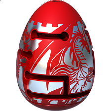 Smart Egg 2-Layer Labyrinth Puzzle - Level 2 Red Dragon -