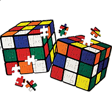 Rubik's Cube Two Impossible Jigsaw Puzzles - 1-100 Pieces