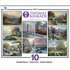 Thomas Kinkade - 10 in 1 - Deluxe Set - Collector's Edition - 500-999 Pieces