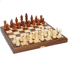 Wood Folding Chess Set - 11.5 inch Walnut - Chess