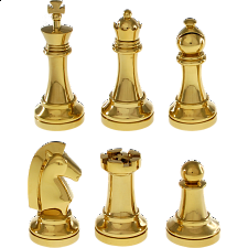 Gold Chess Puzzle Set - Limited Edition - Wire & Metal Puzzles