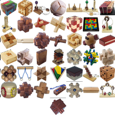 Group Special - a set of 43 wood puzzles - Wood Puzzles