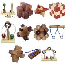 .Level 8 - a set of 11 wood puzzles - Wood Puzzles