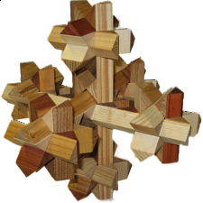 7 Knots Cross - European Wood Puzzles