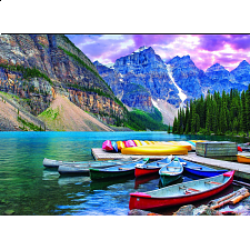 Canoes on the Lake -