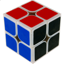 2x2x2 I  - White Body with Black Face for Speed Cubing (46x46mm) - Other Rotational Puzzles