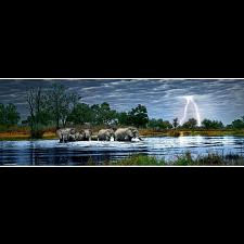 AVH Panorama: Herd of Elephants -