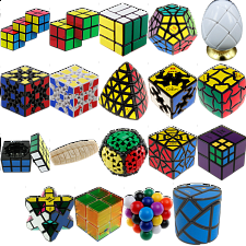 Group Special - a set of 22 Puzzle Master Rotational Puzzles - Rubik's Cube & Others