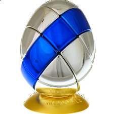 Metalised Egg 3x3x3 - Silver with Blue Stripe - Search Results