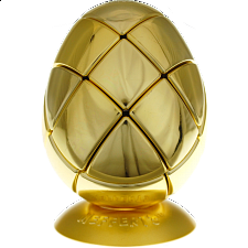 Metalised Egg 3x3x3 - Gold - Adam G. Cowan