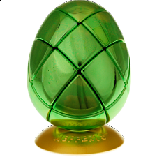 Metalised Egg 3x3x3 - Green - Adam G. Cowan