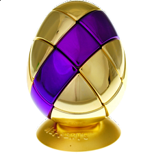 Metalised Egg 3x3x3 - Gold with Purple Stripe - Adam G. Cowan