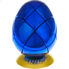 Metalised Egg 3x3x3 - Blue - Adam G. Cowan
