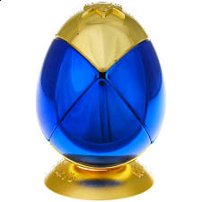 Metalised Egg 2x2x2 - Blue & Gold - Rubik's Cube & Others
