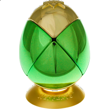 Metalised Egg 2x2x2 - Green & Gold - Rubik's Cube & Others