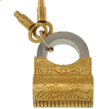 Brass Wallet Padlock - Regular Lock - Padlocks