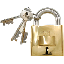 Brass Square Trick Puzzle Padlock - Puzzle Locks