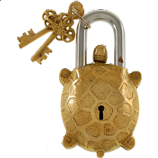 Brass Tortoise Trick Puzzle Padlock - Search Results