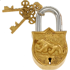 Brass Puzzle Trick Padlock - Lion - Puzzle Locks