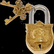 Brass Puzzle Trick Padlock - Sir Thomas Blamey -