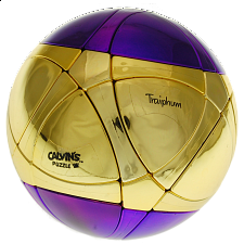 Traiphum Megaminx Ball - Metallized 2 Color - Middle Gold - Rubik's Cube & Others