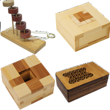 .Level 10 - a set of 8 wood puzzles - Puzzle Master Wood Puzzles