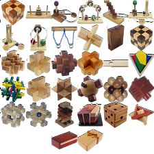 Group Special - a set of 40 wood puzzles - Puzzle Master Wood Puzzles