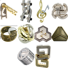 Group Special - a set of 10 Hanayama's NEW puzzles - Hanayama Metal Puzzles