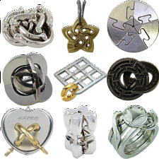 .Level 9 - a set of 9 Hanayama Puzzles - Hanayama Metal Puzzles