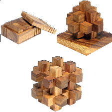 Group Special - a set of 3 XS HeadStress puzzles - Wood Puzzles