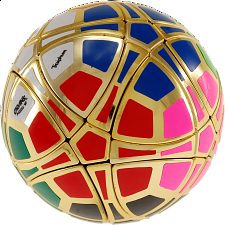 Traiphum Megaminx Ball - (12-Color) Metallized Gold - Rubik's Cube & Others