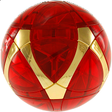 Traiphum Megaminx Ball - Clear Jade Red embedded Metallized Gold - Other Rotational Puzzles