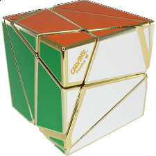 Pitcher Insanity Cube - Metallized Gold - Other Rotational Puzzles
