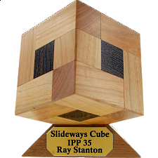 Slideways Cube - European Wood Puzzles