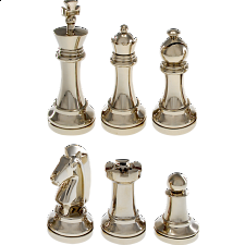 Silver Color Chess Puzzle Set - Hanayama Metal Puzzles