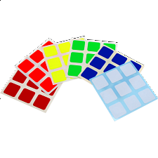 3x3x3 Full-Bright Sticker Set -