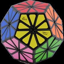 New Improved 12 color Pyraminx Crystal - Black body -
