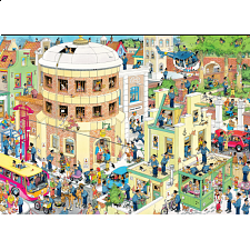 Jan van Haasteren Comic Puzzle - The Escape - 1000 Pieces