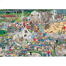 Jan van Haasteren Comic Puzzle - The Zoo - 1000 Pieces