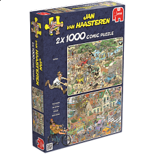 Jan van Haasteren Comic Puzzle - 2 x 1000 Piece Safari/The Storm - Search Results