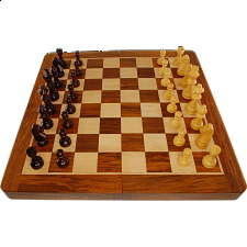 Wood Folding Magnetic Chess Set - 12 inch - Chess Sets - Board & Pieces