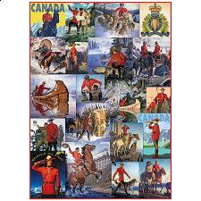 Royal Canadian Mounted Police - Collage - 1000 Pieces
